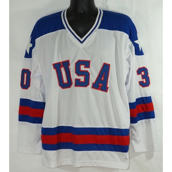 Team USA Miracle on Ice Jim Craig Jersey XL